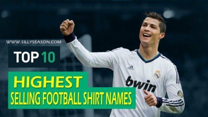 Highest Selling Football Shirt Names 2015