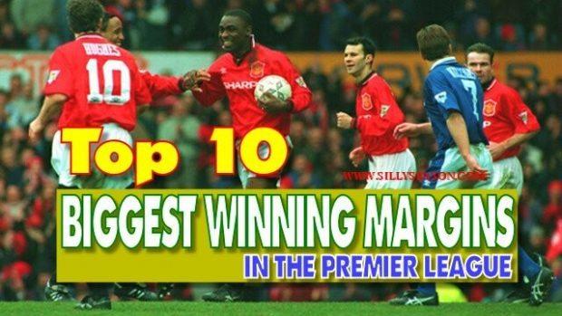 10 Biggest Winning Margins in The Premier League