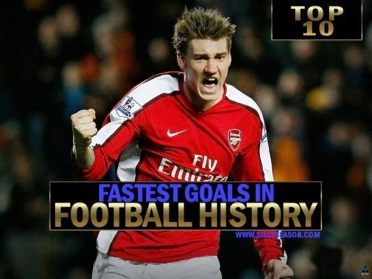 Top-10 Fastest Ever Goals