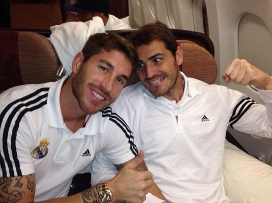 Sergio Ramos and Iker Cassilas are one of the Top 10 Best Friends in Football