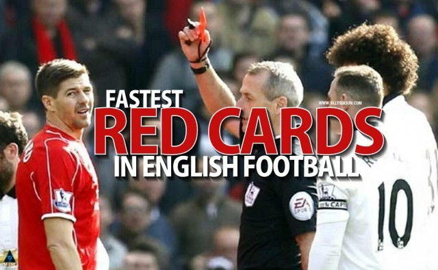 Fastest Red Cards in English Football