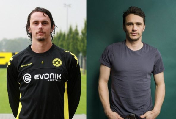 James Franco is one of the Top 10 Footballers Look Alikes