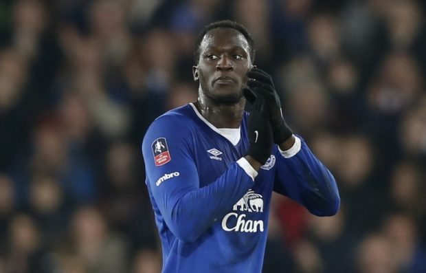 """160312, Fotboll, FA-Cupen Football Soccer - Everton v Chelsea - FA Cup Quarter Final - Goodison Park - 12/3/16 Everton's Romelu Lukaku applauds the fans Action Images via Reuters / Carl Recine Livepic EDITORIAL USE ONLY. No use with unauthorized audio, video, data, fixture lists, club/league logos or """"live"""" services. Online in-match use limited to 45 images, no video emulation. No use in betting, games or single club/league/player publications. Please contact your account representative for further details. © BildbyrŒn - COP 7 - SWEDEN ONLY"""