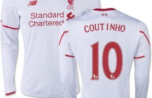 Philippe Coutinho's replica jersey is one of the Top 10 Selling Football Jerseys of Players