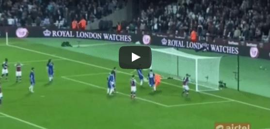 West Ham 2-1 Chelsea Gary Cahill Goal Video Highlight