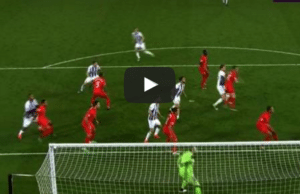 Liverpool 2-1 West Brom Gareth McAuley Goal Video Highlight