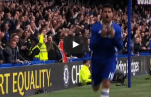 Chelsea 1-0 Leicester City Diego Costa Goal Video Highlight
