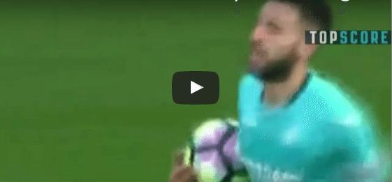 Arsenal 3-2 Swansea Borja Baston Goal Video Highlight