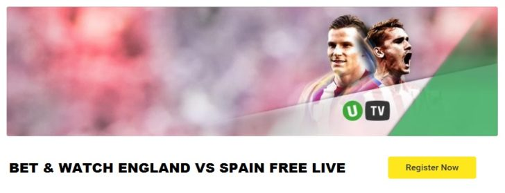 England vs Spain live stream free Unibet TV