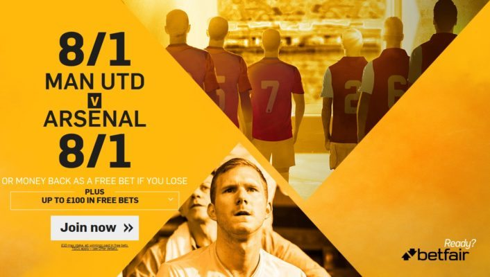 Manchester United vs Arsenal betting tips offer