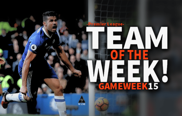 EPL Premier League Team of the week game week 15