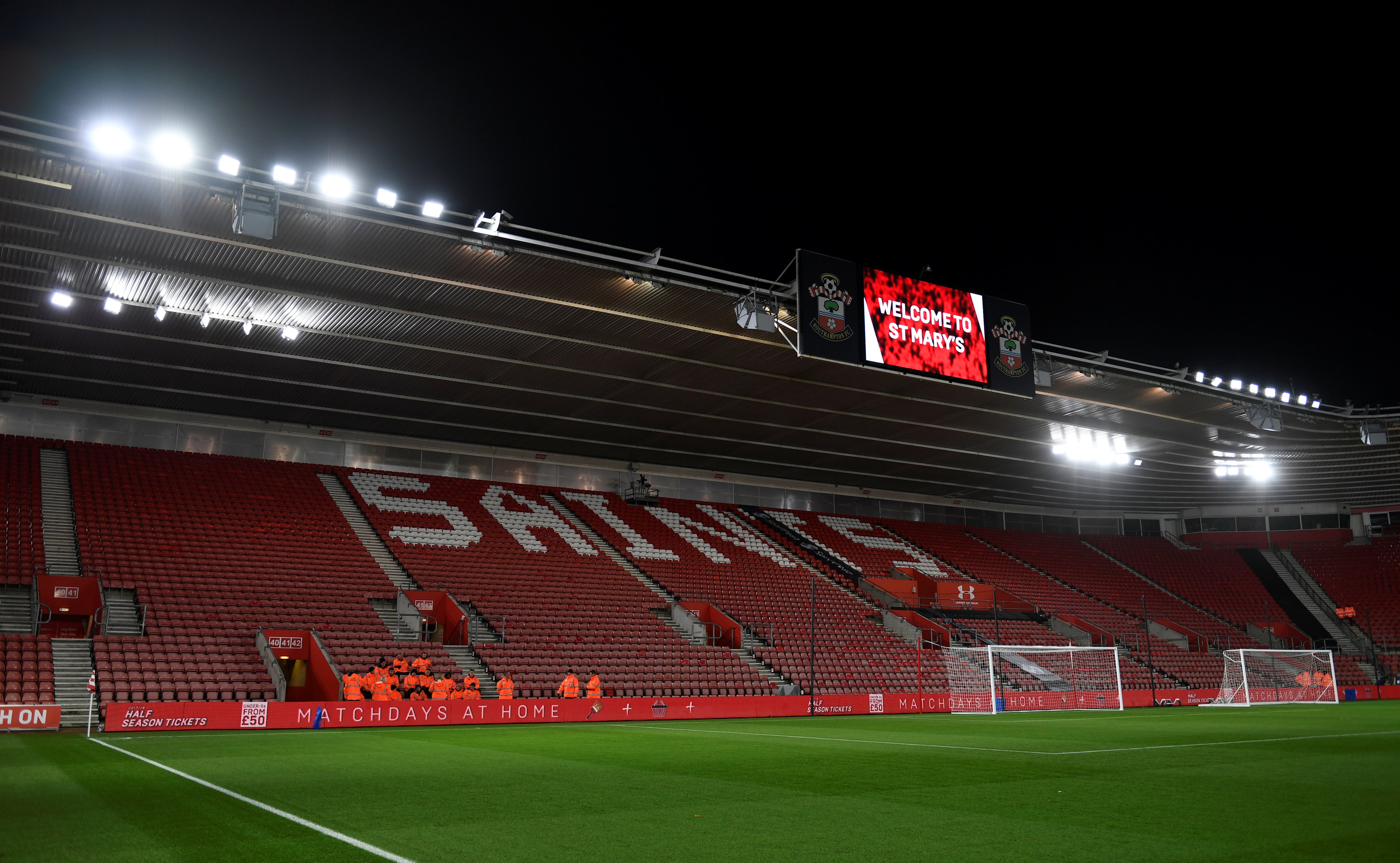 Top 10 lowest Premier League attendances 2018 Southampton City