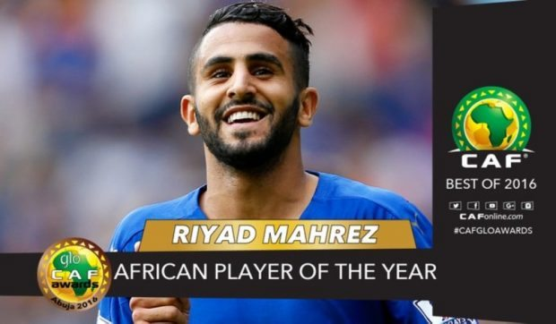 Riyad Mahrez is one of the Past Winners of The African Footballer of The Year