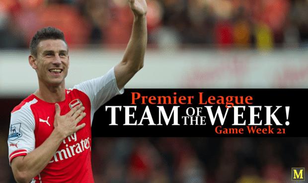 Premier League Team Of The Week - Game Week 21 - 2016/17
