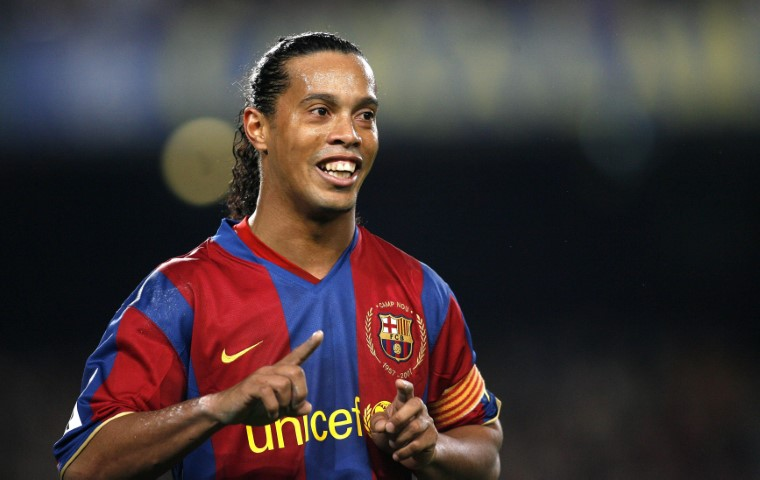 Best Champions League midfielders ever Ronaldinho