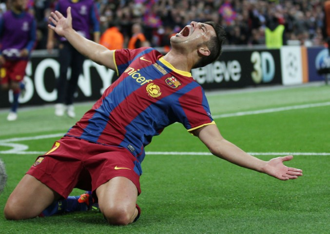 Best Champions League strikers David Villa