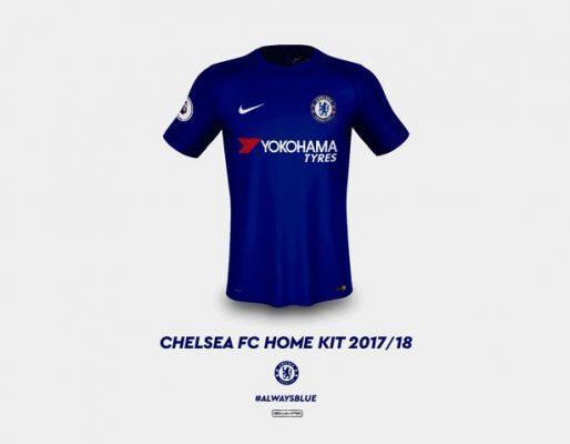 Chelsea's kits for the 2017/18 season
