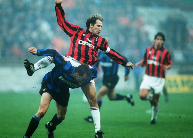 Franco Baresi is one of the Most popular voted footballers from the 90's