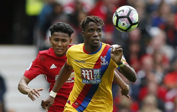 Arsenal target former Manchester United star Wilfried Zaha