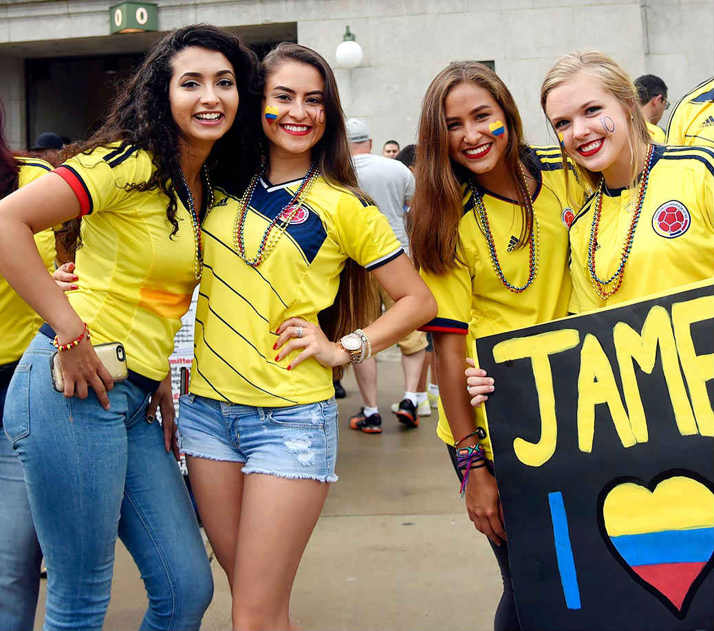 Countries With The Hottest Female Football Fans Colombia