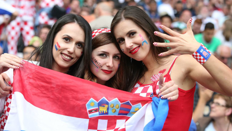 Images, Pictures and Photos of Beautiful, Sexy and Hot Croatia girls - Croatian Female Fans In World Cup 2018