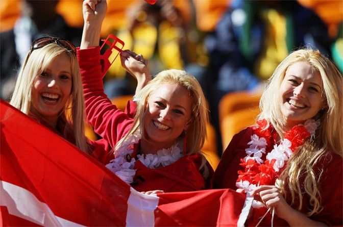Images, Pictures and Photos of Beautiful, Sexy and Hot Danish girls - Denmark Female Fans In World Cup 2018
