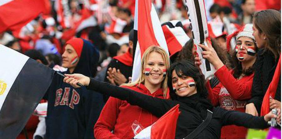 Images, Pictures and Photos of Beautiful, Sexy and Hot Egyptian girls - Egypt Female Fans In World Cup 2018