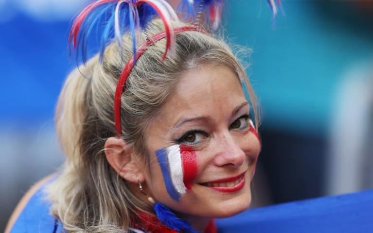 Images, Pictures and Photos of Beautiful, Sexy and Hot French girls - France Female Fans In World Cup 2018