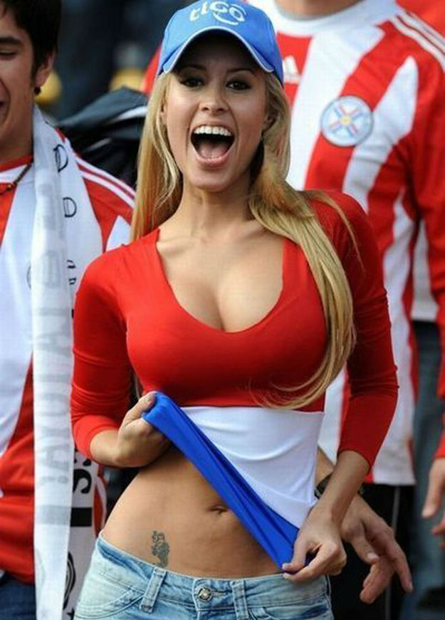 Images, Pictures and Photos of Beautiful, Sexy and Hot Paraguay girls - Paraguayan Female Fans In World Cup 2018