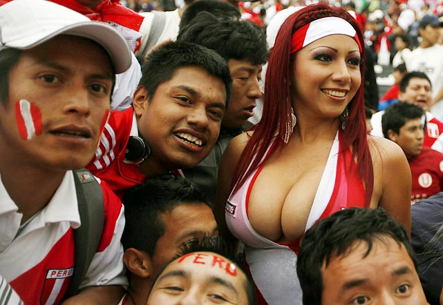 Images, Pictures and Photos of Beautiful, Sexy and Hot Peruvian girls - Peru Female Fans In World Cup 2018