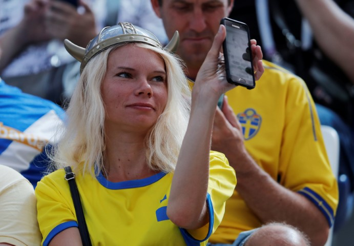 Images, Pictures and Photos of Beautiful, Sexy and Hot Swedish girls - Sweden Female Fans In World Cup 2018