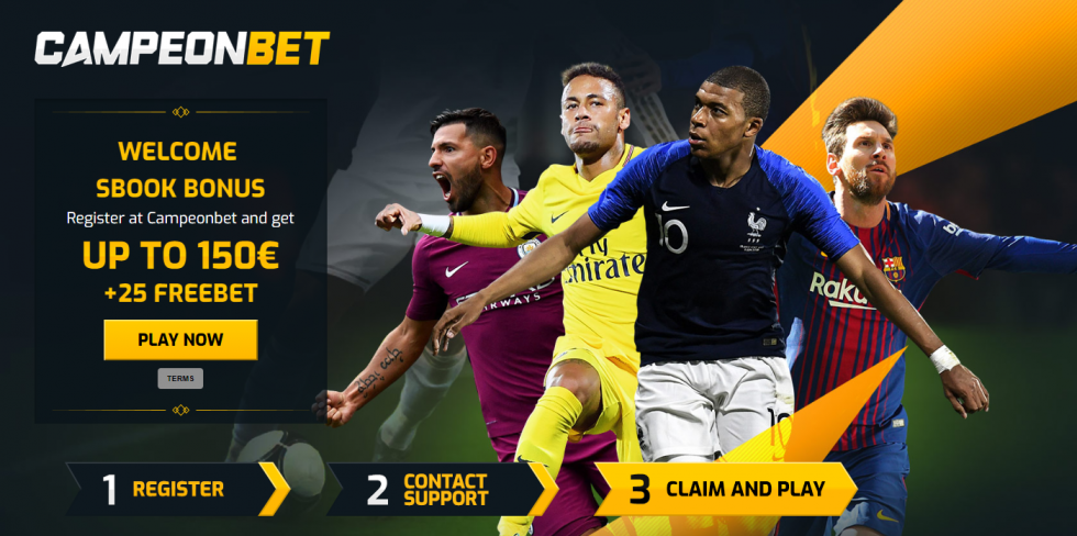 CampeonBet welcome sign up sport bonus