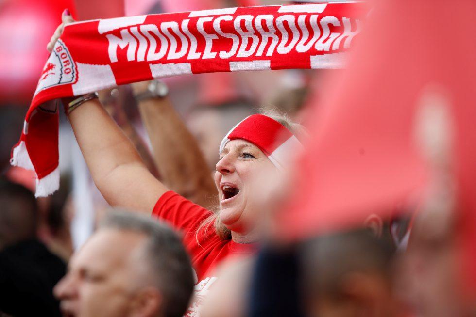 Middlesbrough supporters Riverside stadium