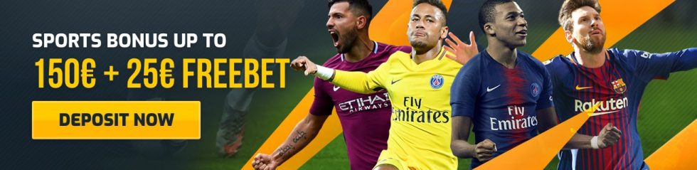 CampeonBet Bonus - 50% up to 150EUR Welcome Bonus + 25EUR FREEBET