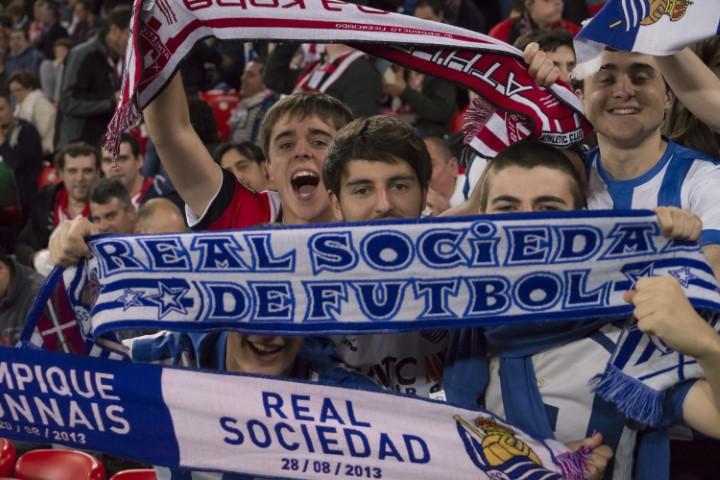 Real Sociedad fans Basque derby