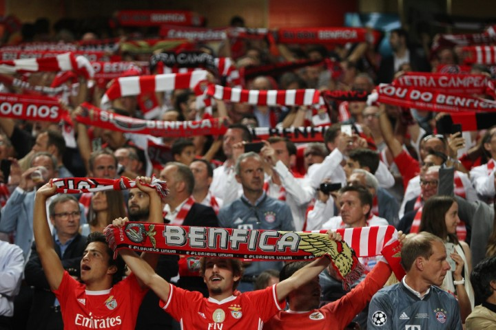 SL Benfica fans Estádio da Luz