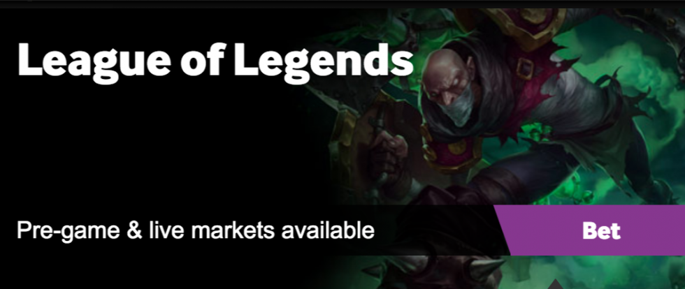 Betting sites League of Legends