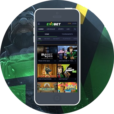 Evobet on mobile app