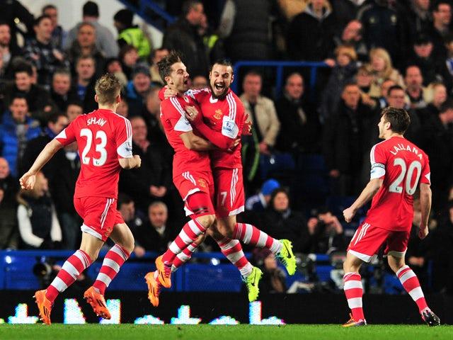Fastest Premier League goal - Jay Rodriguez - Chelsea 3-1 Southampton - 2013-12-01