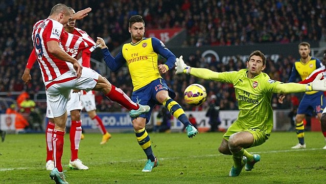 Fastest Premier League goal - Peter Crouch - Stoke City 3-2 Arsenal - 2014-12-06