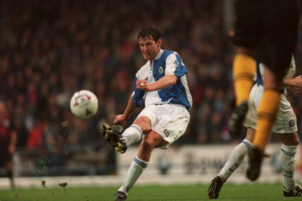 Fastest goal in the Premier League - Chris Sutton - Everton 1-2 Blackburn - 1995-04-01