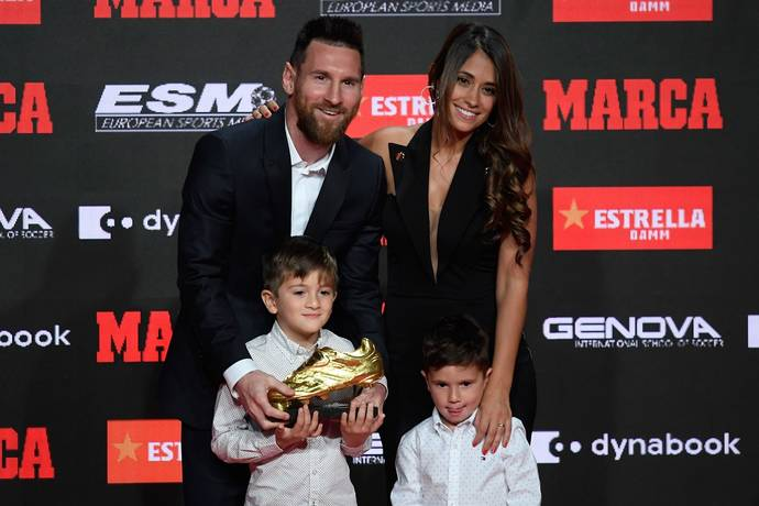 Barcelona's Lionel Messi awarded sixth European Golden Shoe