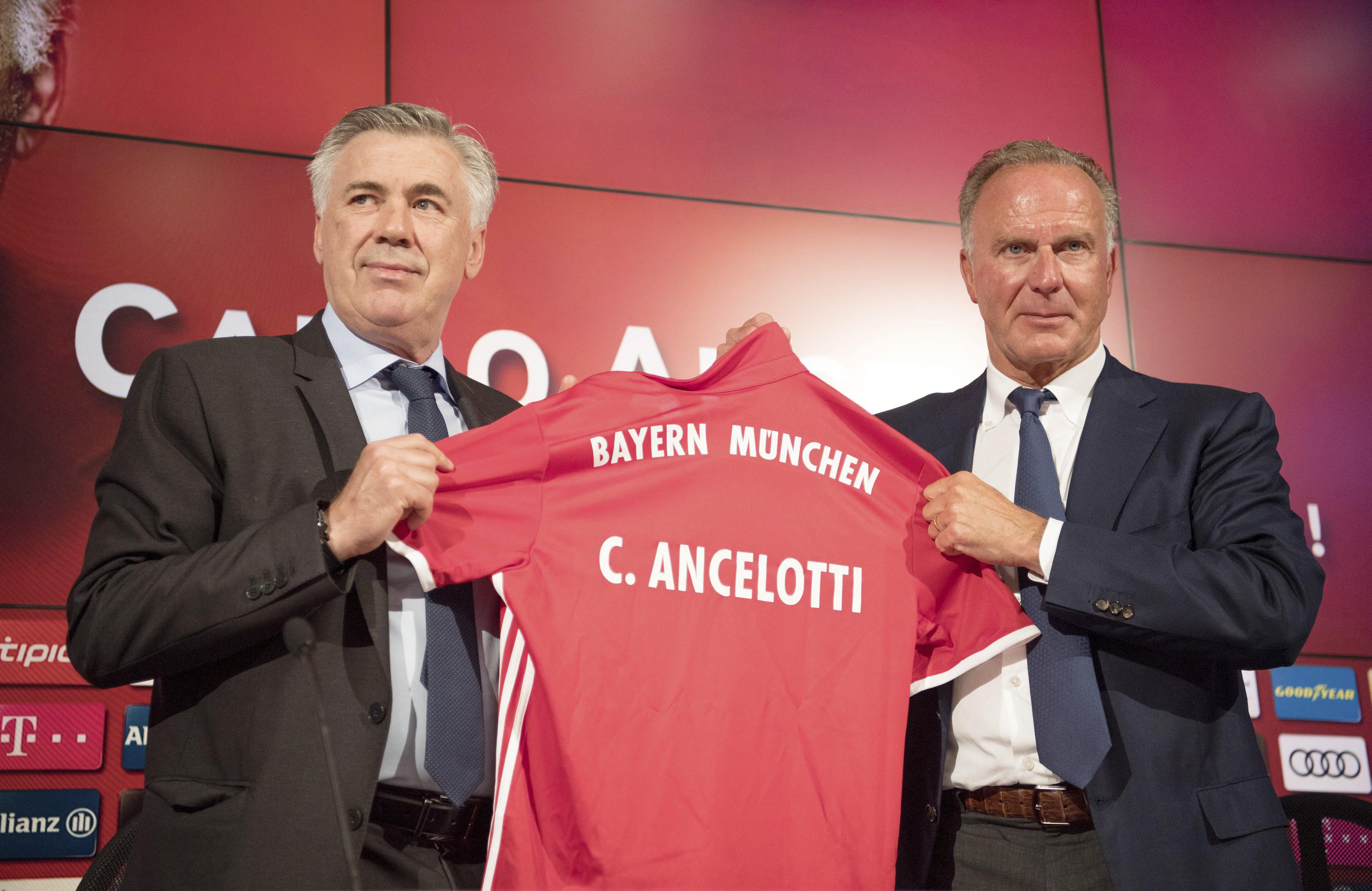 Bayern Munich chairman Karl-Heinz Rummenigge in tears when sacking Carlo Ancelotti