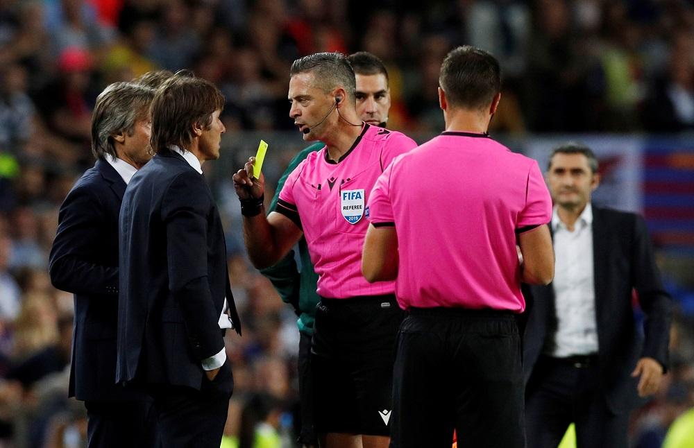 Conte blasts referees
