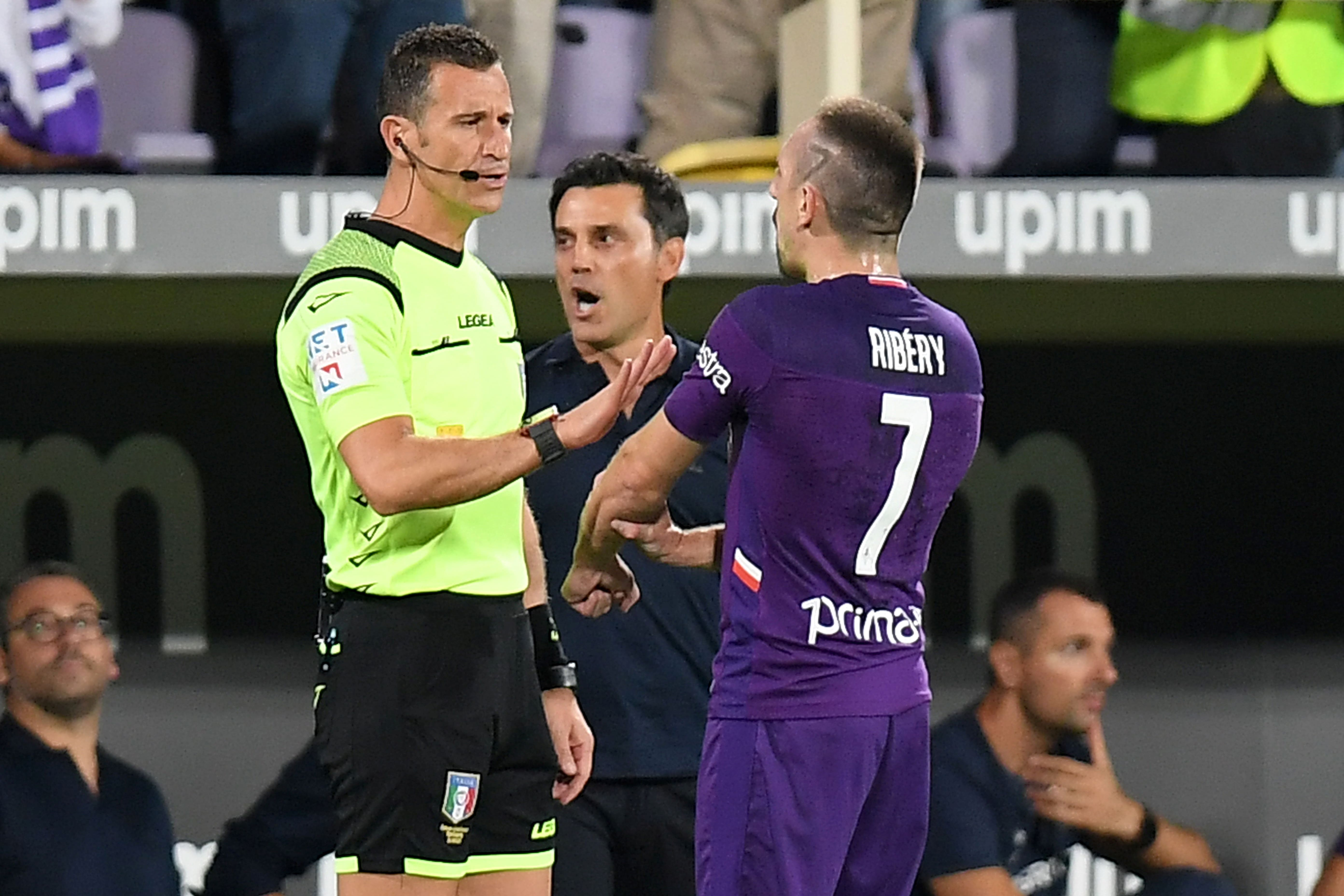 Fiorentina star Franck Ribery banned for three games after contact with referee