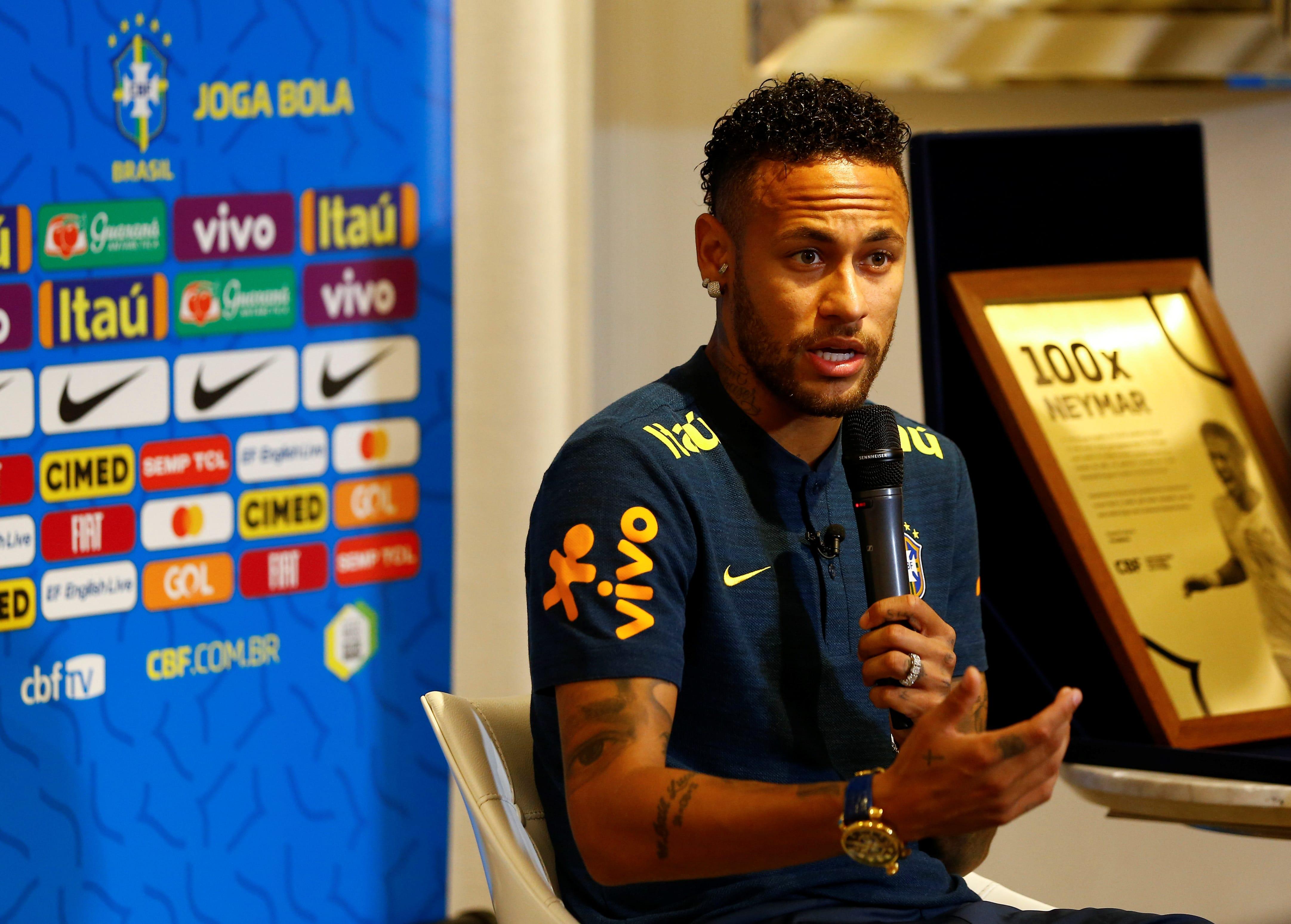 Paris Saint-Germain star Neymar picks up injury in Brazil's friendly against Nigeria