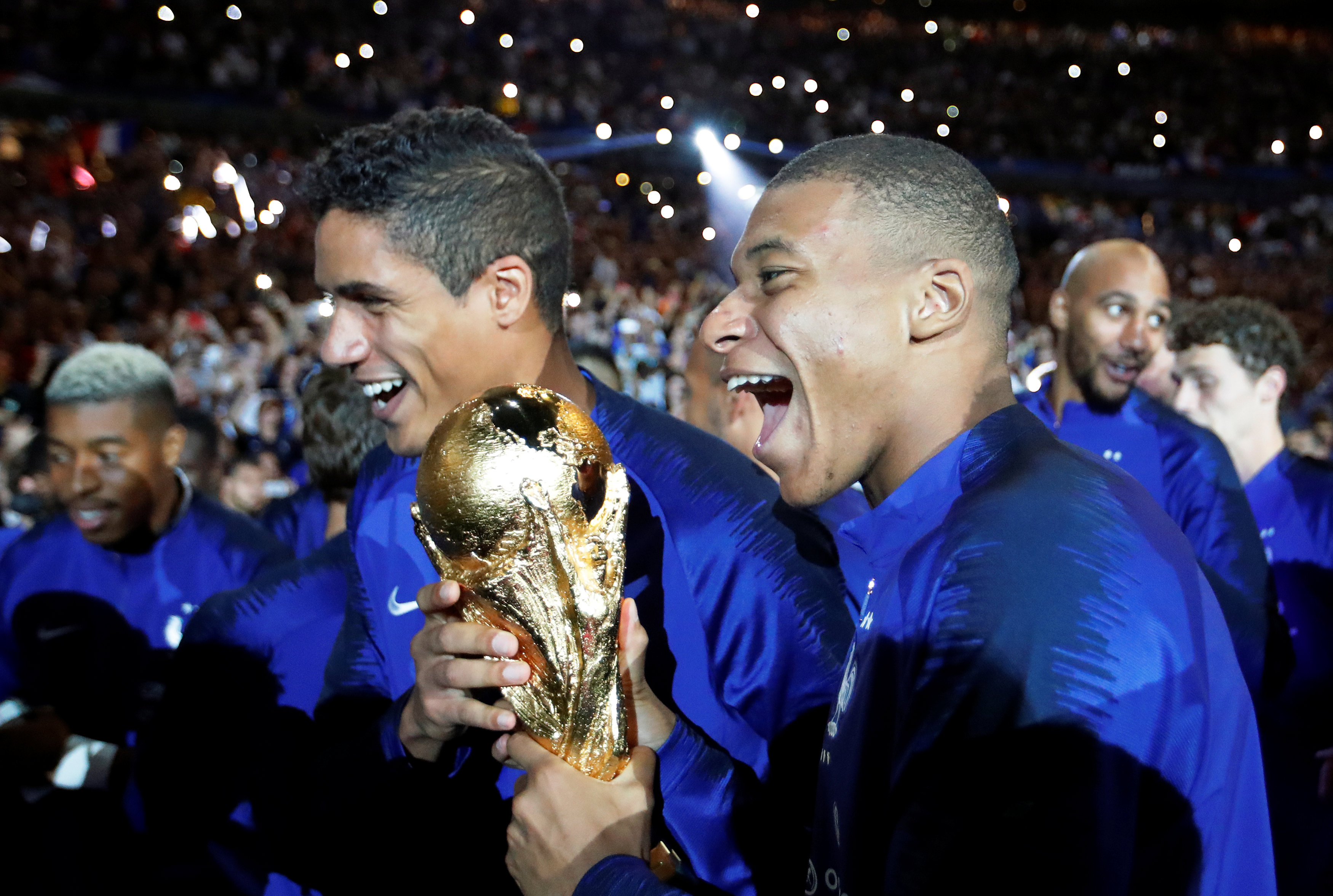 Raphael Varane urges World Cup winner Kylian Mbappe to join Real Madrid