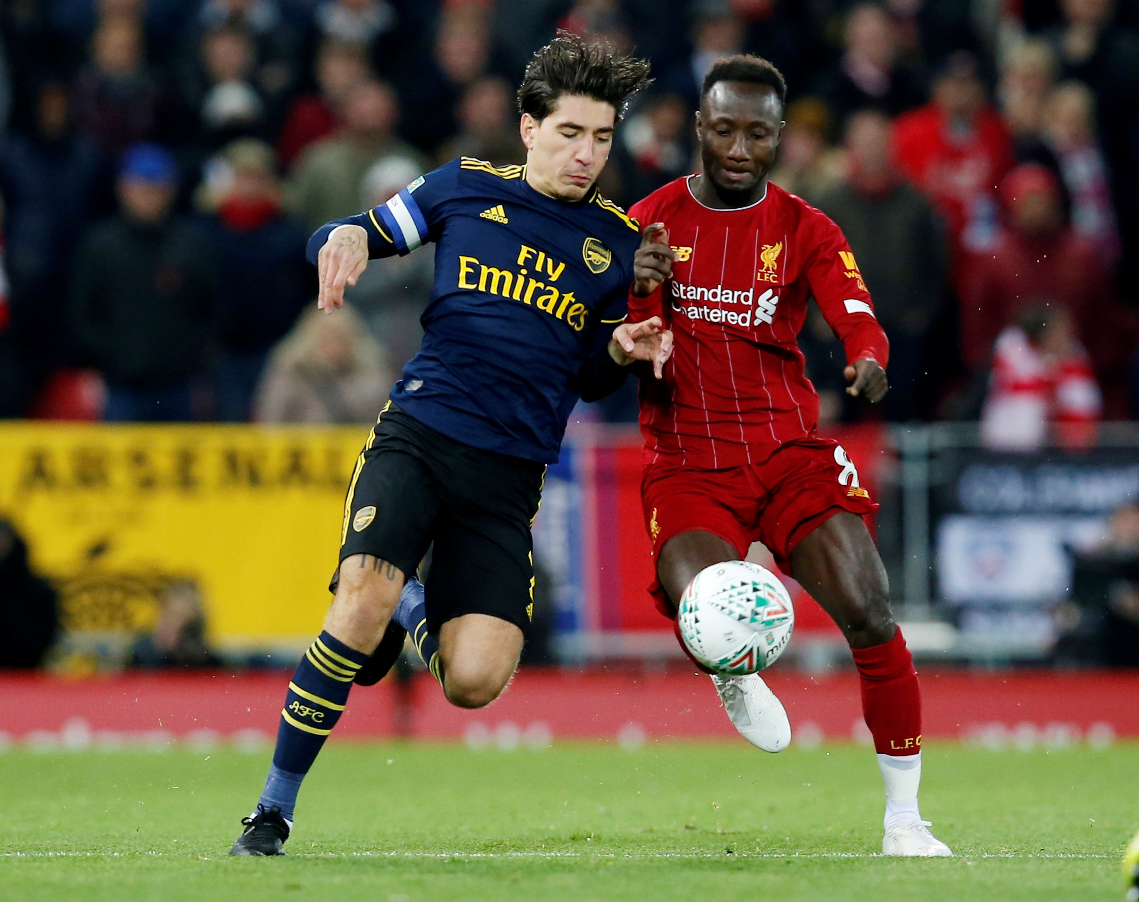 Bellerin gutted by Anfield defeat