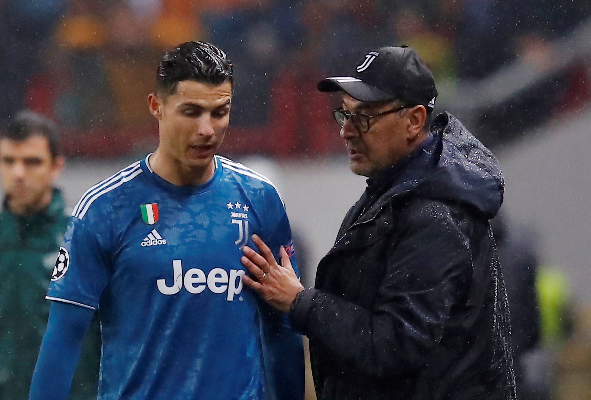 Frustrated Cristiano Ronaldo leaves stadium after substituted off against AC Milan