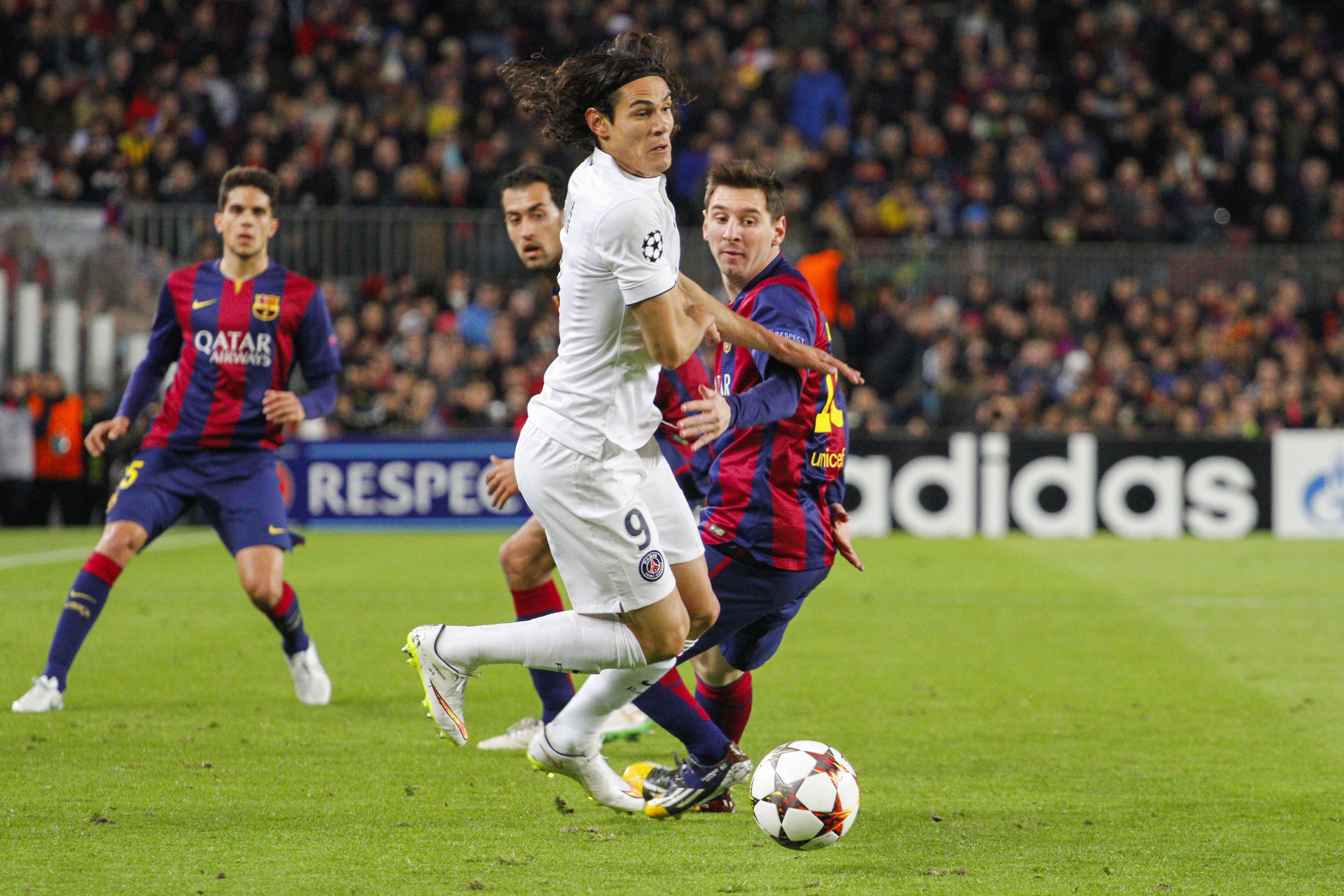 Lionel Messi involved in tunnel bust-up with Paris Saint-Germain's Edinson Cavani
